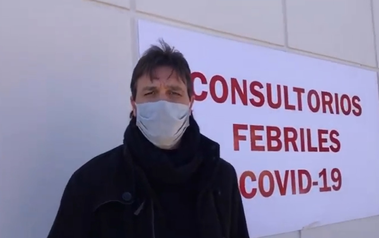 El hospital tiene un área de atención para casos de COVID-19